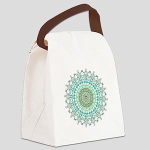 Evergreen Mandala Pattern Canvas Lunch Bag