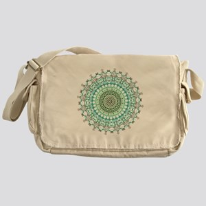 Evergreen Mandala Pattern Messenger Bag