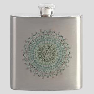 Evergreen Mandala Pattern Flask