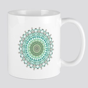 Evergreen Mandala Pattern Mugs
