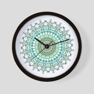 Evergreen Mandala Pattern Wall Clock