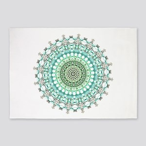 Evergreen Mandala Pattern 5'x7'Area Rug