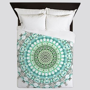 Evergreen Mandala Pattern Queen Duvet