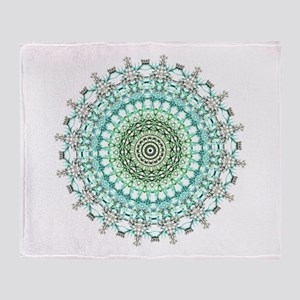Evergreen Mandala Pattern Throw Blanket