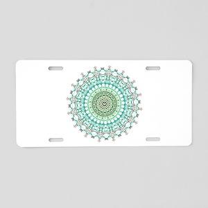Evergreen Mandala Pattern Aluminum License Plate