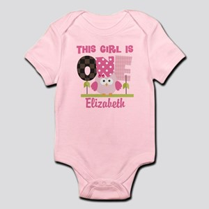 Personalized Girls 1st Birthday Owl Body Suit