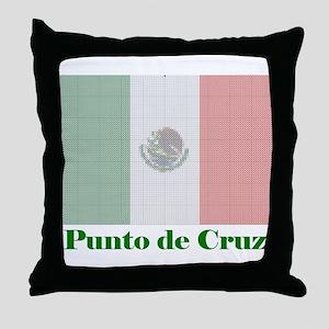 Mexico - Cross Stitch Throw Pillow