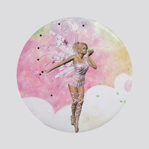 The Fairy And The Frog Ornament (Round)