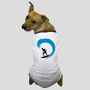 Surfer wave Dog T-Shirt