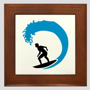 Surfer wave Framed Tile