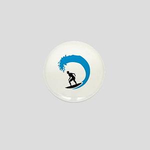 Surfer wave Mini Button