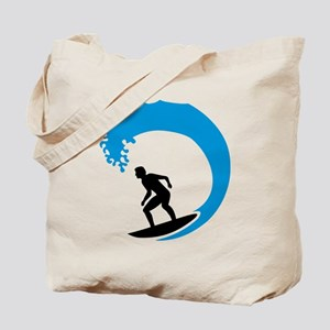 Surfer wave Tote Bag