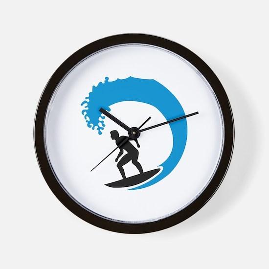 Surfer wave Wall Clock