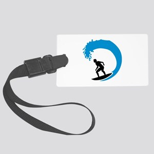 Surfer wave Large Luggage Tag
