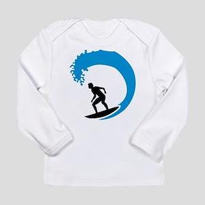 Surfer wave Long Sleeve Infant T-Shirt
