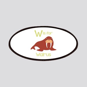W Is For Walrus Patches