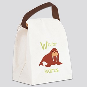W Is For Walrus Canvas Lunch Bag