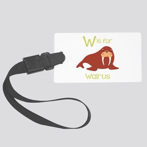 W Is For Walrus Luggage Tag