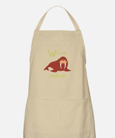 W Is For Walrus Apron