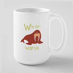 W Is For Walrus Mugs