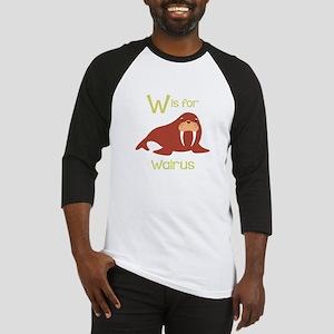 W Is For Walrus Baseball Jersey
