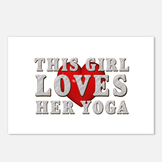 TOP Yoga Love Postcards (Package of 8)