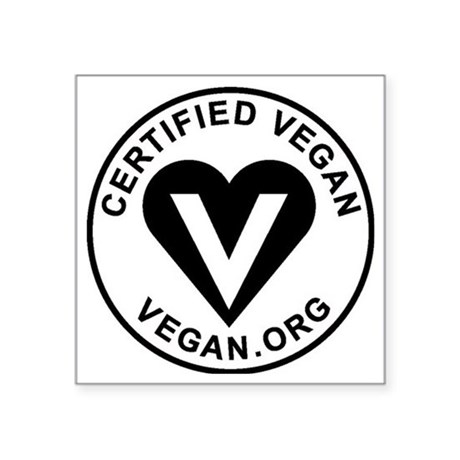 "Certified Vegan Square Sticker 3"" x 3"""