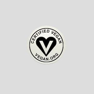 Certified Vegan Mini Button