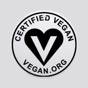 Certified Vegan Round Ornament