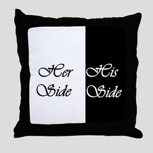 Her Side His Side Throw Pillow