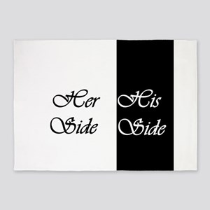 Her Side His Side 5'x7'Area Rug