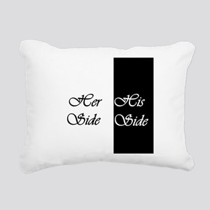 Her Side His Side Rectangular Canvas Pillow