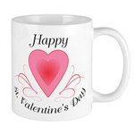 Happy Valentines Day with a Heart Mugs