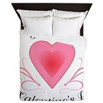 Happy Valentines Day with a Heart Queen Duvet