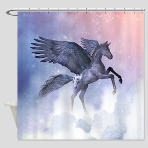 Flying Pony Shower Curtain
