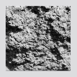 White rock concrete texture Tile Coaster
