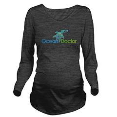 Ocean Doctor Logo Long Sleeve Maternity T-Shirt