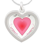 Happy Valentines Day with a Heart Necklaces