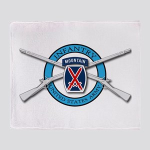 10th Mountain Muskets Throw Blanket