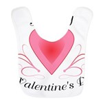 Happy Valentines Day with a Heart Bib