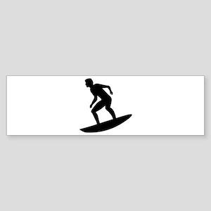 Surfing Surfer Sticker (Bumper)
