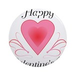 Happy Valentines Day with a Heart Ornament (Round)