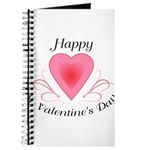 Happy Valentines Day with a Heart Journal