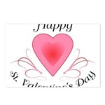 Happy Valentines Day with a Heart Postcards (Packa