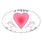 Happy Valentines Day with a Heart Sticker