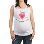 Happy Valentines Day with a Heart Maternity Tank T