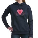 Happy Valentines Day with a Heart Hooded Sweatshir
