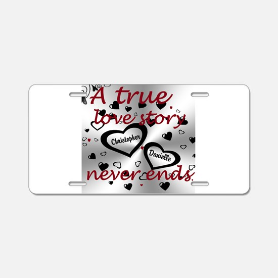 True Love Story Aluminum License Plate