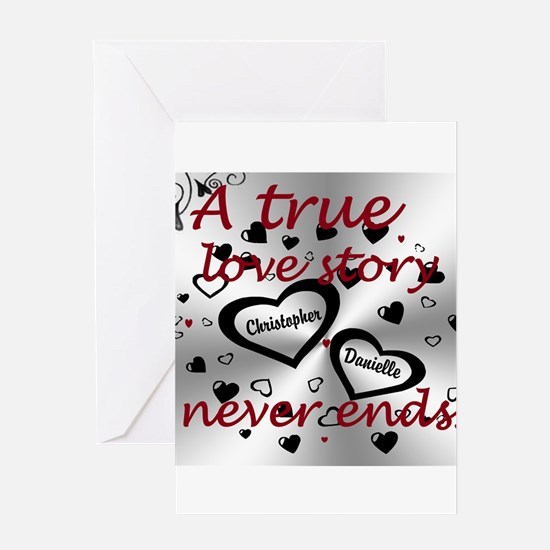 True Love Story Greeting Cards