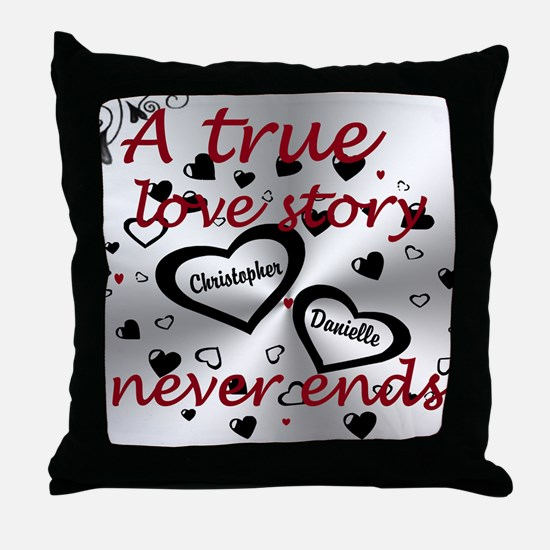 True Love Story Throw Pillow